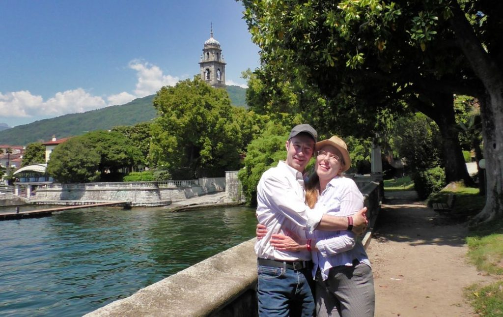 Mitch and Dina in Pallanza, Lake Maggiore, Italy, 2019