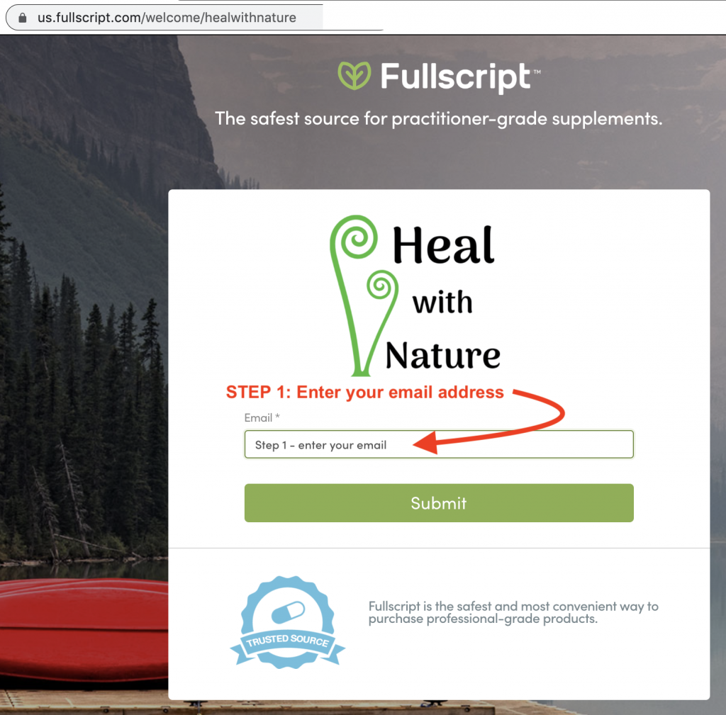 Instructions: How to set up your FullScript Account 1