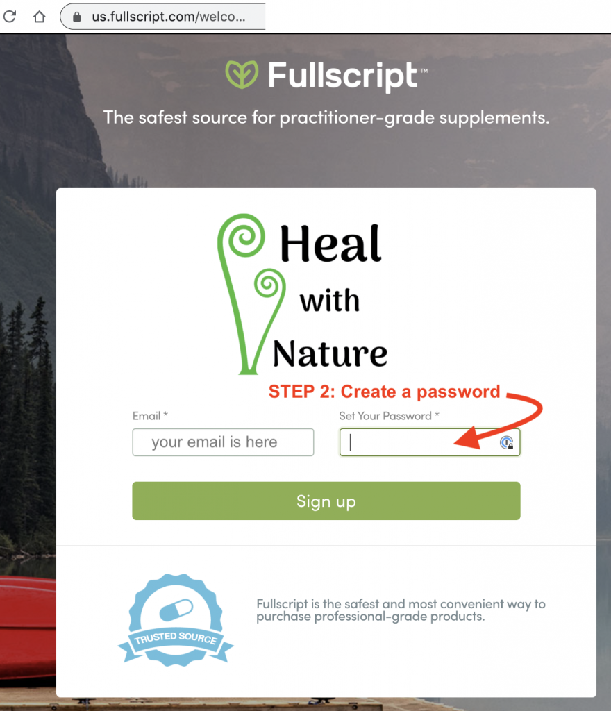 Instructions: How to set up your FullScript Account 2