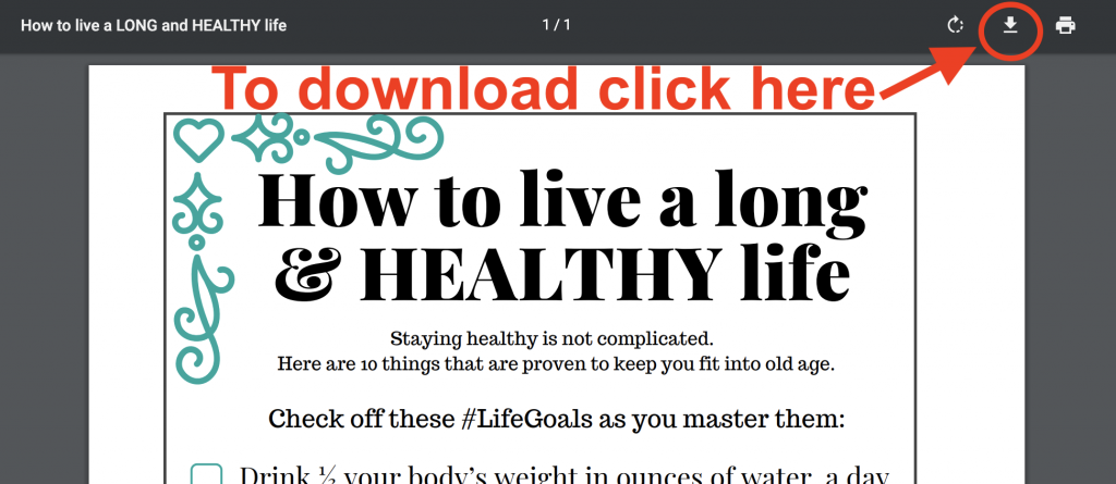 Download Instructions - Long and Healthy Life